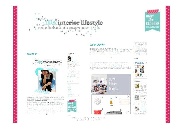 @IDA interior lifestyle di Ilaria Chiaratti      per Casa Facile/Mondadori
