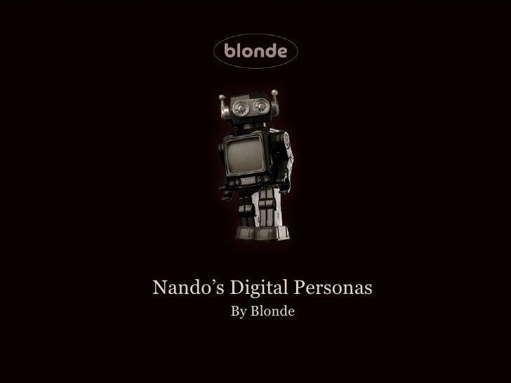 Nando's Digital Personas        By Blonde