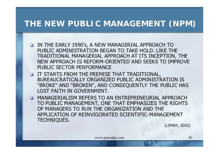 New public management vs traditional public
