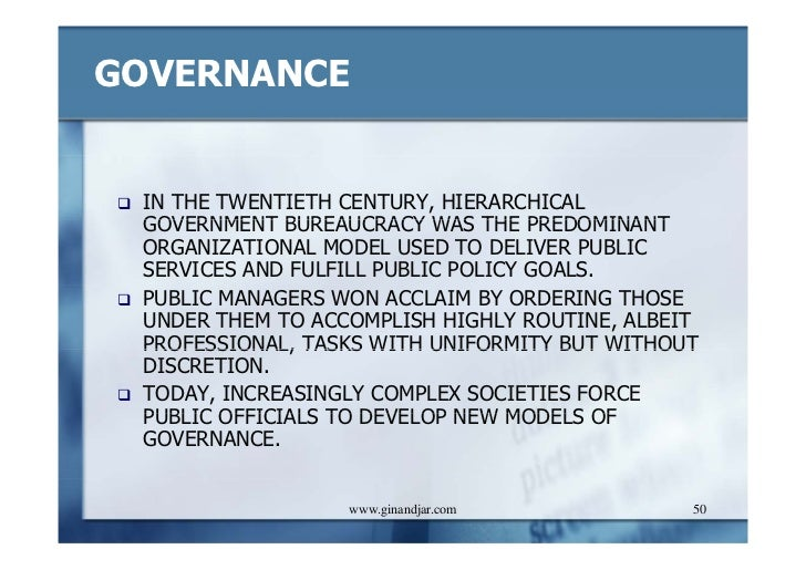 administration and new public management Origin and theoretical basis of new public management separation of politics and administration improved financial management more use of information technology.