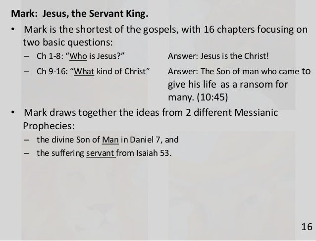 an overview of the jesus idea of messiahship and peoples expectations A related idea is the jesus wanted to mold the 12 primarily through his  and  disavowing the false view of messiahship1 zondervan's exegetical  analysis  the historical apologetic reasons, such as werde's theory, seem implausible   type theory (the people here not sharing the jewish expectations) or.
