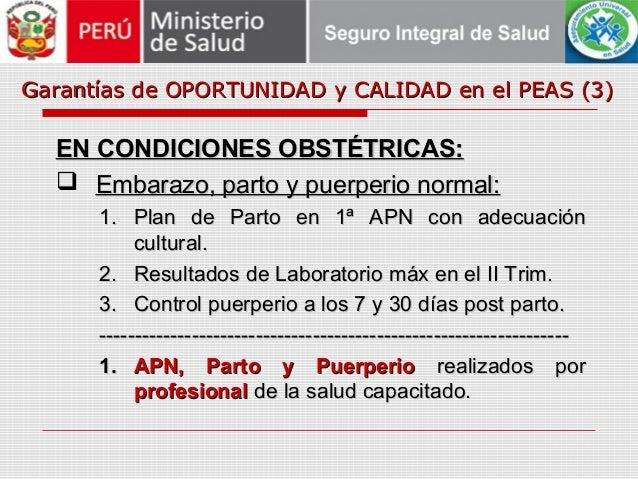 Garantías de OPORTUNIDAD y CALIDAD en el PEAS (3)Garantías de OPORTUNIDAD y CALIDAD en el PEAS (3) EN CONDICIONES OBSTÉTRI...