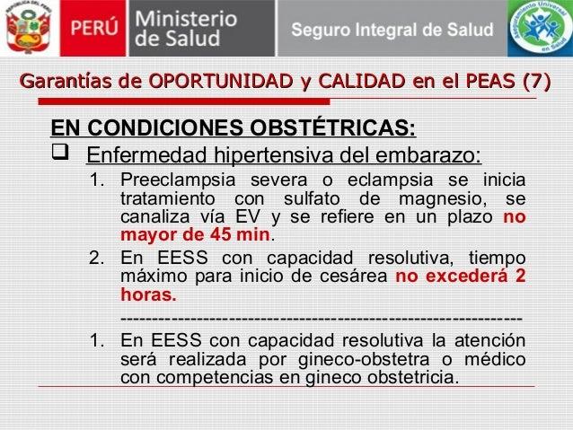Garantías de OPORTUNIDAD y CALIDAD en el PEAS (7)Garantías de OPORTUNIDAD y CALIDAD en el PEAS (7) EN CONDICIONES OBSTÉTRI...