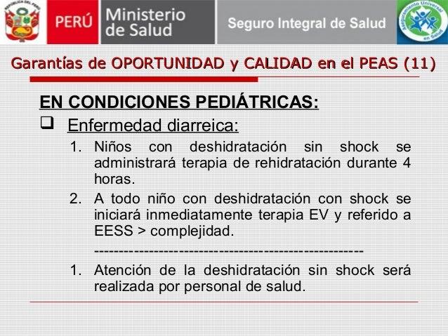 Garantías de OPORTUNIDAD y CALIDAD en el PEAS (11)Garantías de OPORTUNIDAD y CALIDAD en el PEAS (11) EN CONDICIONES PEDIÁT...