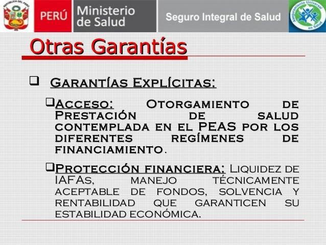 Otras GarantíasOtras Garantías  Garantías Explícitas:Garantías Explícitas: Acceso:Acceso: Otorgamiento deOtorgamiento de...