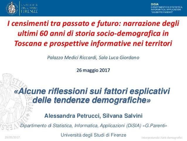 "DiSIA DIPARTIMENTO DI STATISTICA, INFORMATICA, APPLICAZIONI ""GIUSEPPE PARENTI"" Alessandra Petrucci, Silvana Salvini Dipart..."