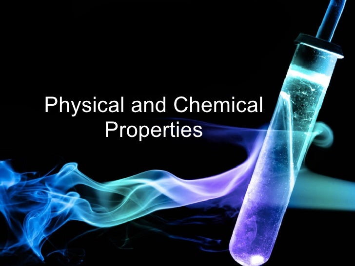 Chemistry Physical Chemical Properties