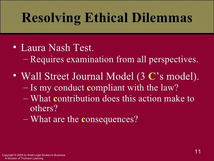 laura nash front page of the newspaper blanchard peale wall street journal Blanchard and peale b laura nash  the front-page-of-the-newspaper test c the wall street journal model d ethical egoism  front-page-of-the-newspaper test.