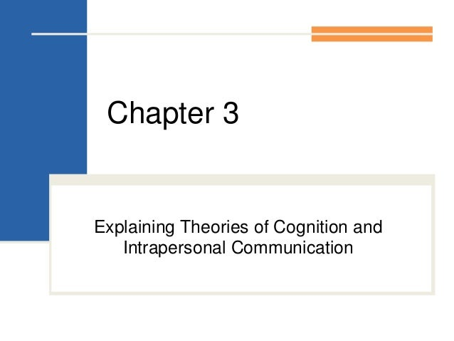 Chapter 3Explaining Theories of Cognition andIntrapersonal Communication