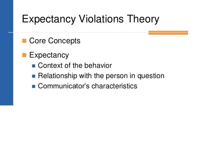 expectancy violations theory Expectancy violations theory, or evt, is a theory of communication that analyzes how individuals respond to unanticipated violations of social norms and expectations.