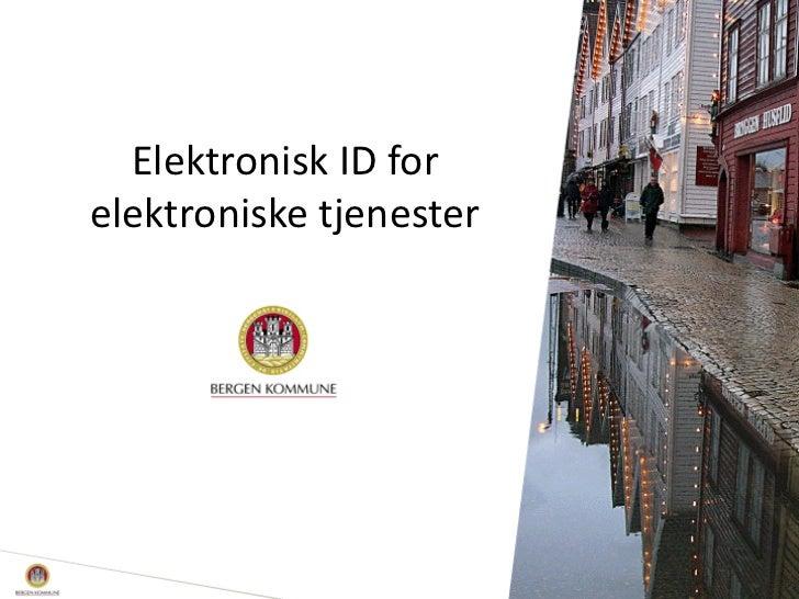 Elektronisk ID forelektroniske tjenester