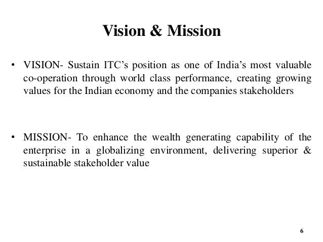 the vision and mission of itc Program review: instructional technology center 1 mission and vision a service area/administrative unit mission the instructional technology center (itc) provides.
