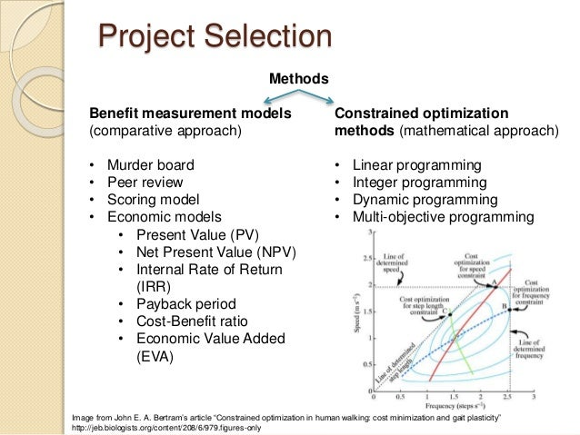 The Value of Project-Selection Methods | PMP Exam Cram ...