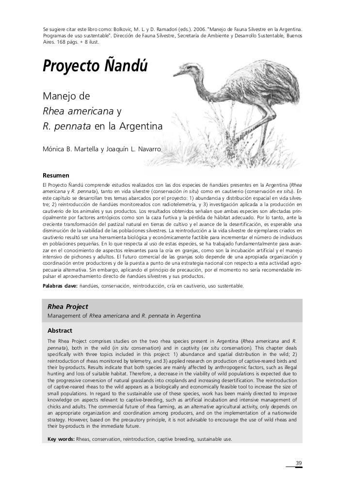 """Se sugiere citar este libro como: Bolkovic, M. L. y D. Ramadori (eds.). 2006. """"Manejo de Fauna Silvestre en la Argentina. ..."""