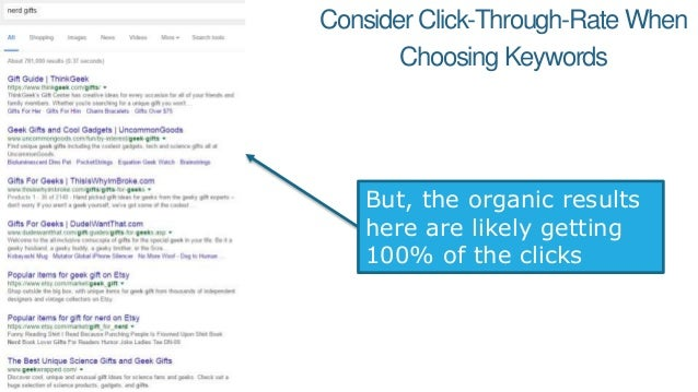 Or you can use a tool like Keyword Explorer to get the CTR Opportunity scores 100% CTR Opportunity 60% CTR Opportunity