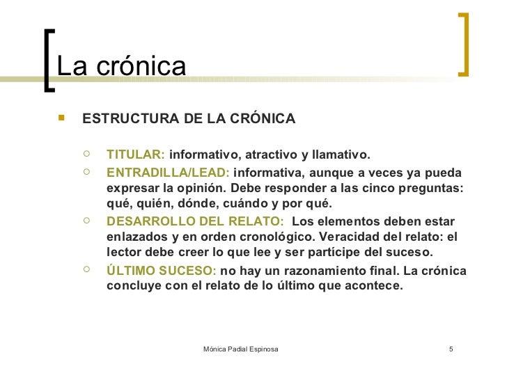 Redacción Periodística 2 La Crónica