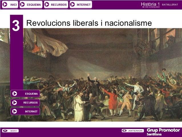 Història 1 del món contemporani  3  Revolucions liberals i nacionalisme  ESQUEMA RECURSOS INTERNET  BATXILLERAT