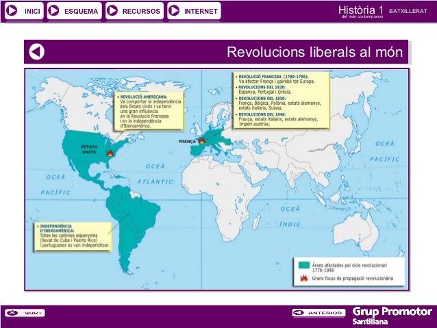 Història 1 del món contemporani  BATXILLERAT  Revolucions liberals al món Revolucions liberals al món