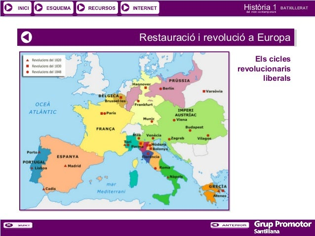 Història 1 del món contemporani  BATXILLERAT  Restauració ii revolució a Europa Restauració revolució a Europa Els cicles ...