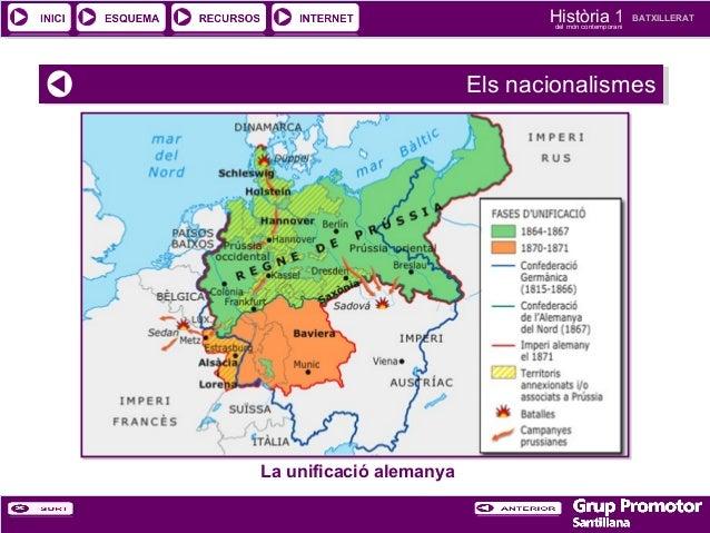 Història 1 del món contemporani  BATXILLERAT  Els nacionalismes Els nacionalismes  La unificació alemanya