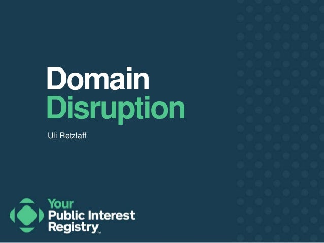Domain  Disruption  Uli Retzlaff