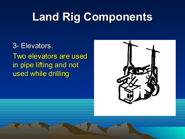 Land Rig ComponentsLand Rig Components 4- Substructure.4- Substructure. This is the support onThis is the support on which...