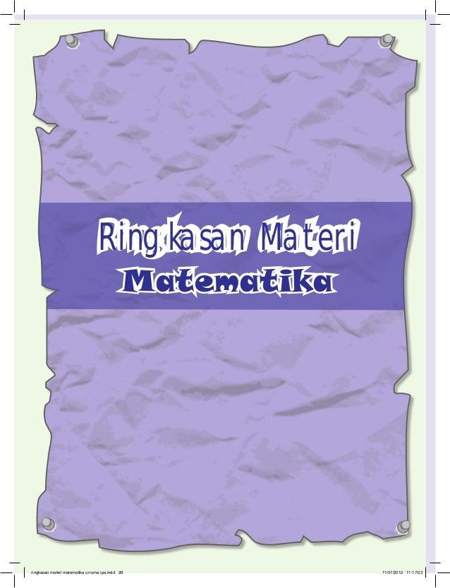 Ringkasan Materi                                             Matematika                   28ringkasan materi matematika un...