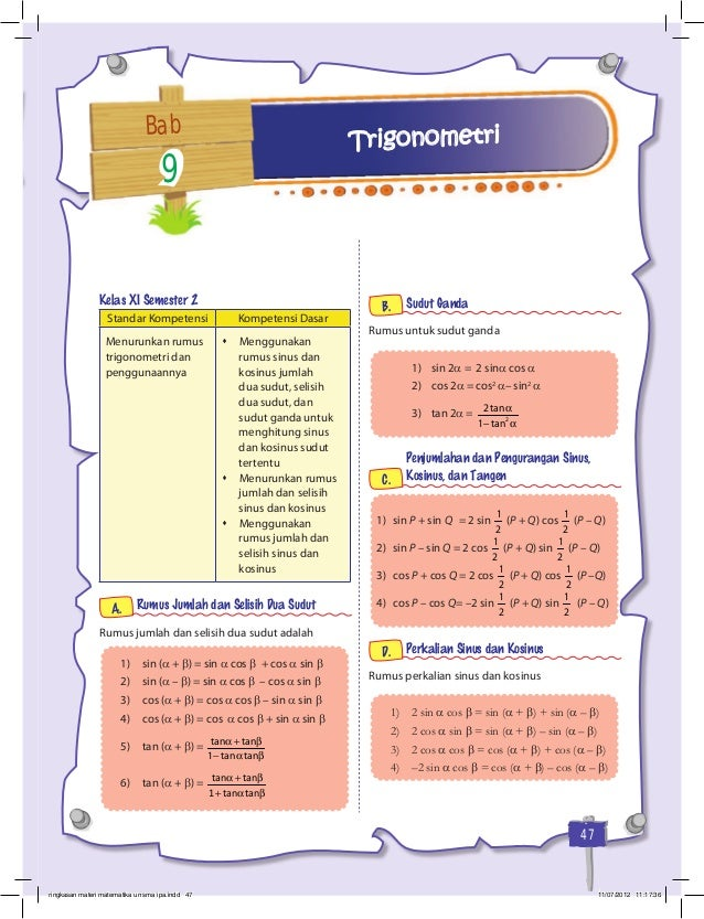 Ringkasan Materi Matematika