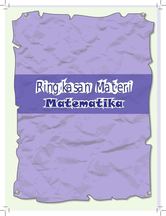28 Ringkasan Materi Matematika