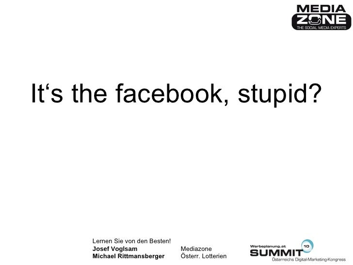 It's the facebook, stupid?