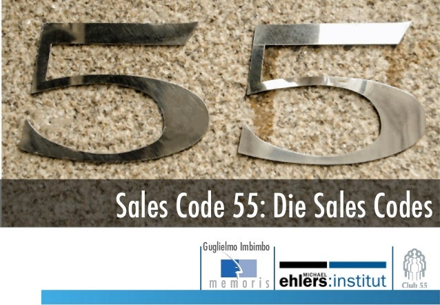 Sales Code 55: Die Sales Codes Guglielmo Imbimbo