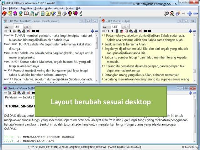 "Membuka Desktop 1. Klik ikon dengan gambar meja dan lampu meja 2. Pilih nama desktop 4. Klik ""OK"" Layout berubah sesuai de..."
