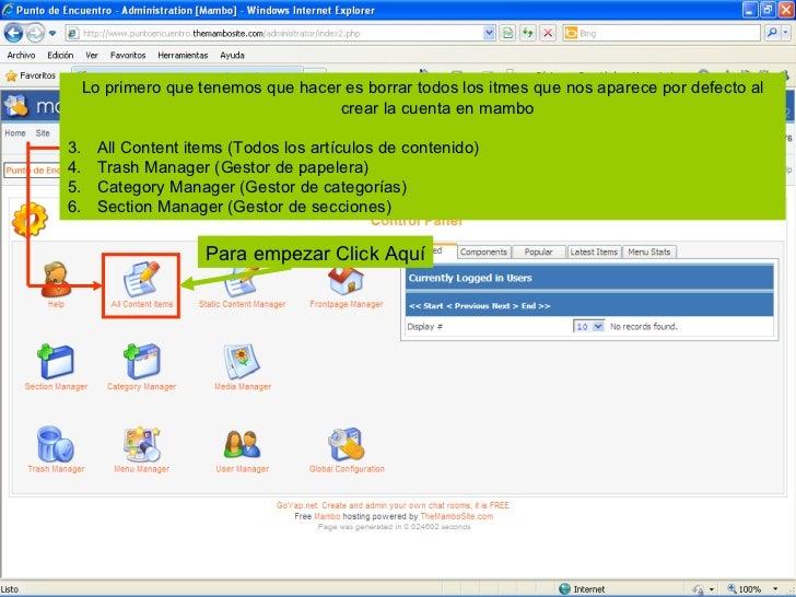 03 secciones y categorias del adminsitrador mambo Slide 2