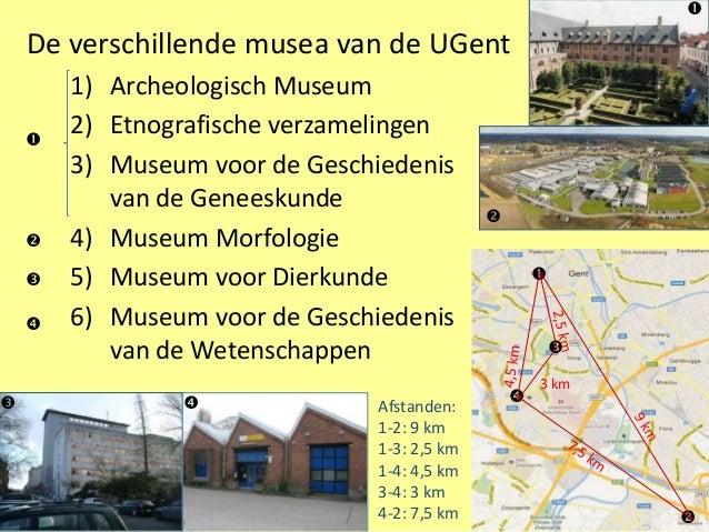     De verschillende musea van de UGent        1) Archeologisch Museum            2) Etnografische verzamelingen        ...
