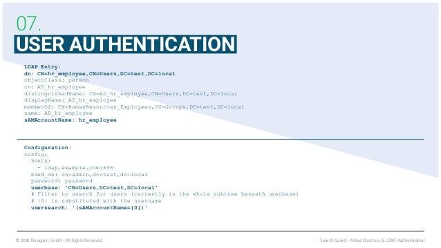 Active Directory & LDAP | Security for Elasticsearch