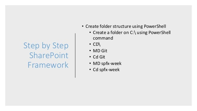 Step by Step SharePoint Framework Web Part Development