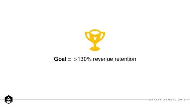 Goal = >130% revenue retention