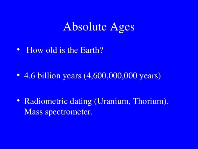Uranium thorium dating