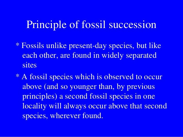 principals of fossil succession essay The principle of forces shows the close relationship between gravitational force (g)  i have always been happy for having written this essay.