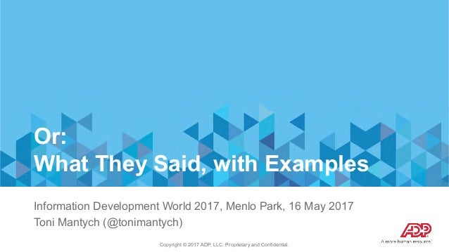 Making It So: The Hard Work of Developing a Unified Content Strategy with Toni Mantych  Slide 3