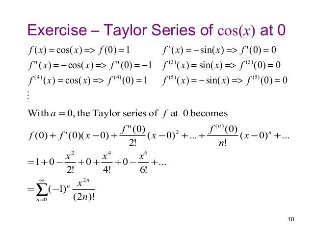 how to solve a taylor series