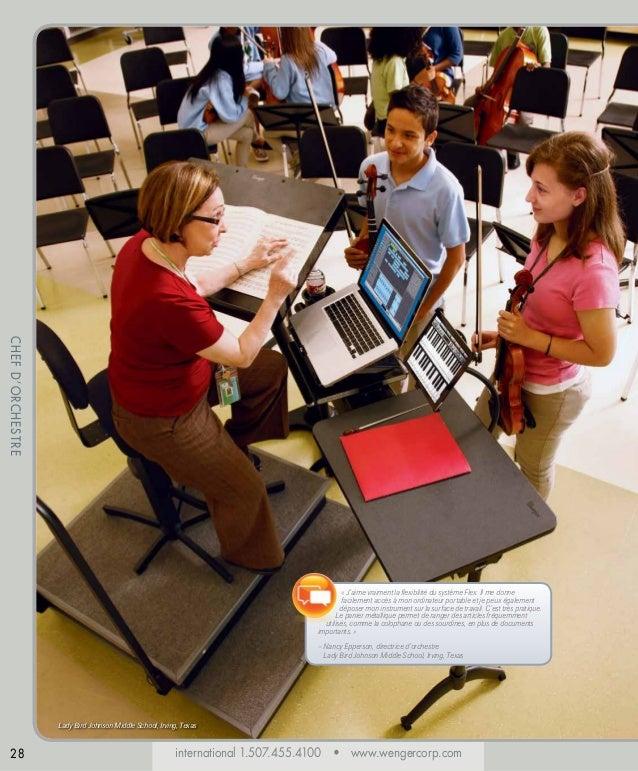 CHEF D'ORCHESTRE « J'aime vraiment la flexibilité du système Flex. Il me donne facilement accès à mon ordinateur portable ...