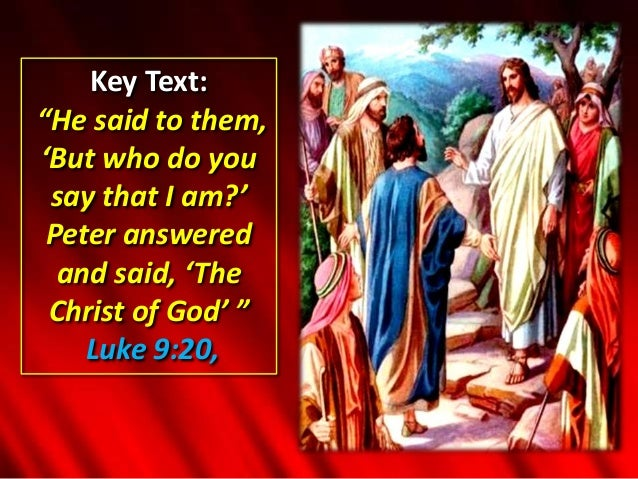 Image result for who do you say i am scripture