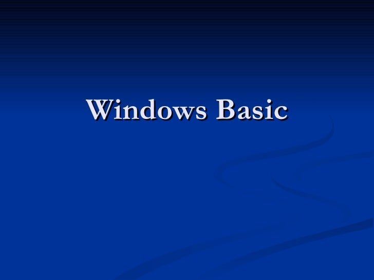 Windows Basic