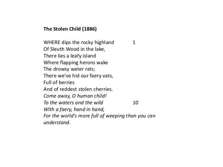 the stolen child yeats