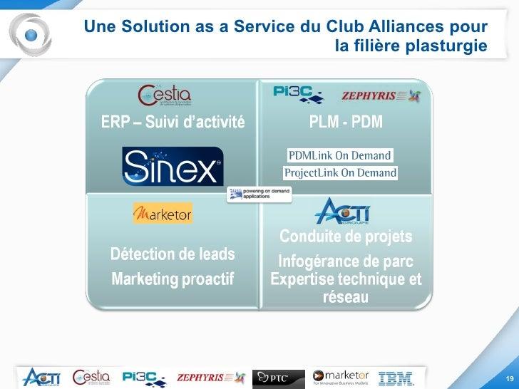Une Solution as a Service du Club Alliances pour la filière plasturgie
