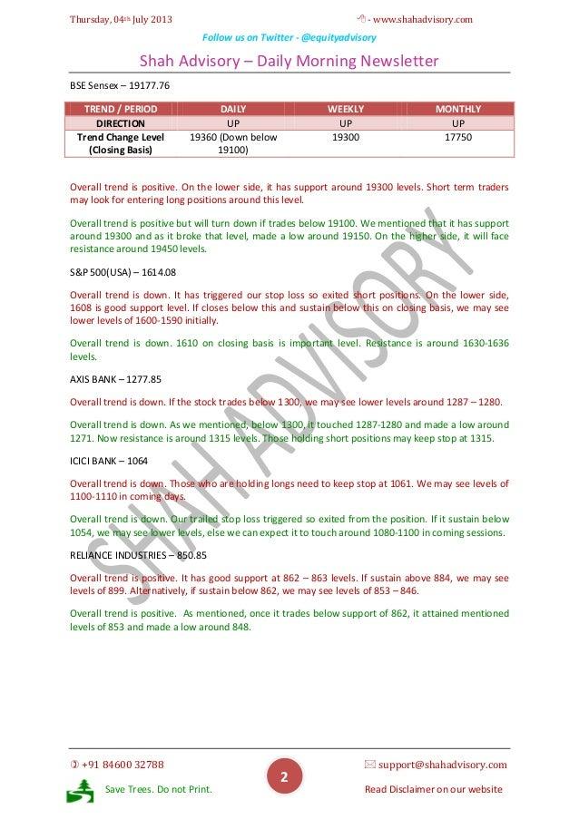 Daily Newsletter - 04-07-2013 Slide 2