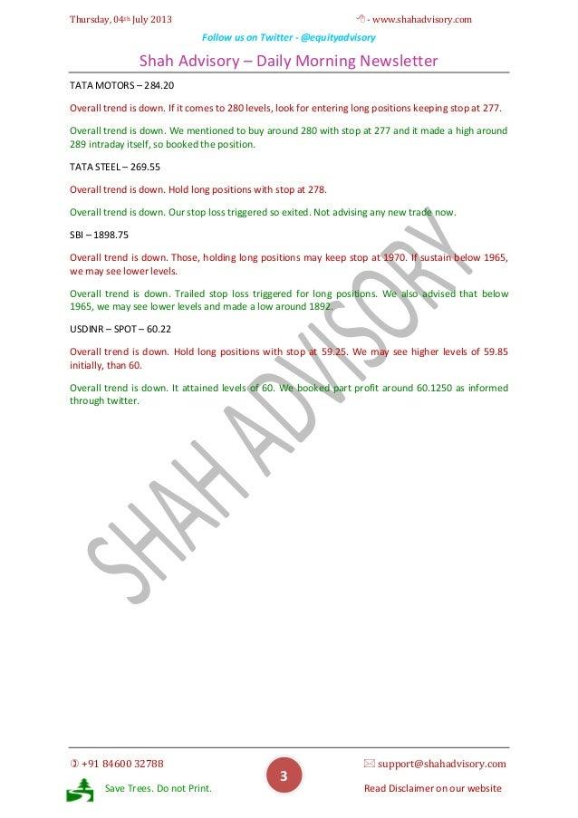 Daily Newsletter - 04-07-2013 Slide 3