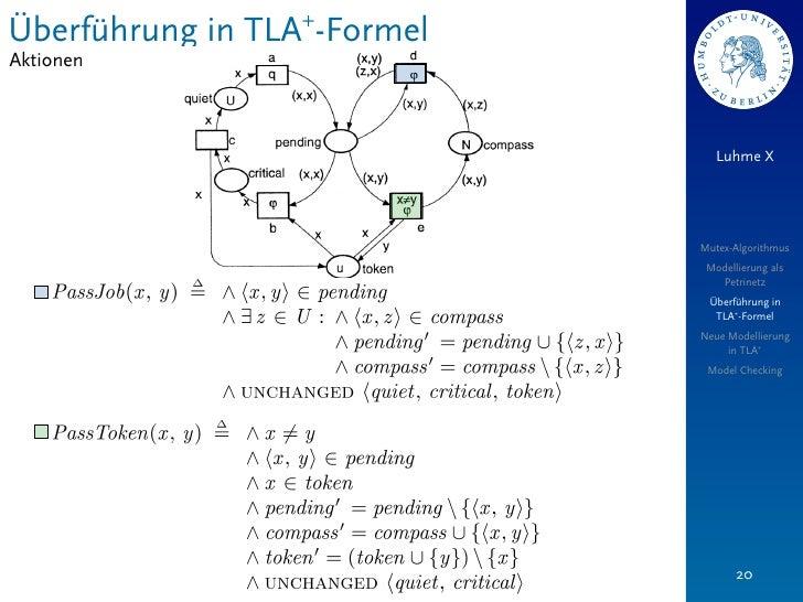 Überführung in TLA+-FormelAktionen                                Luhme X                             Mutex-Algorithmus   ...
