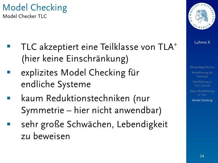 Model CheckingModel Checker TLC                                                   Luhme X                                 ...